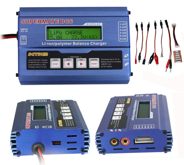 dynam supermate dc6 dc multi function balance charger discharger 1 6 rh hobbypartz com Companies That Wire Money Online Money Wiring Services