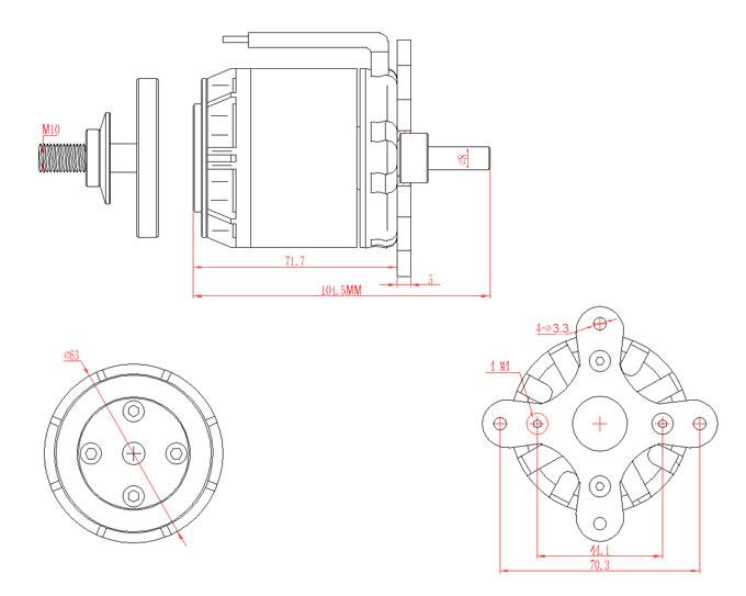 EMAX GT5335 -10 200kv Brushless Motor for Airplanes GT ...