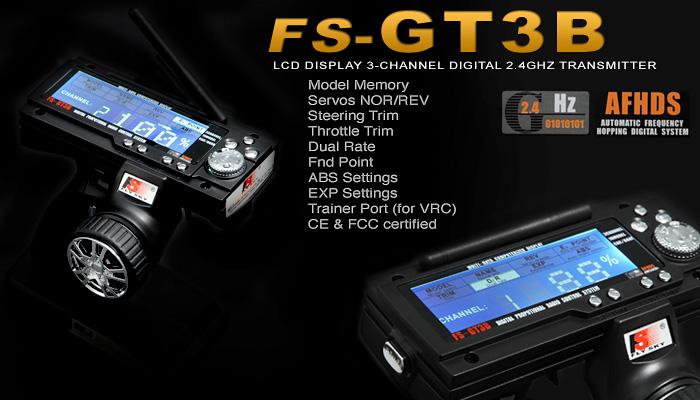 FLY SKY FS-GT3B Digital 3-Channel 2 4ghz TX & RX LCD