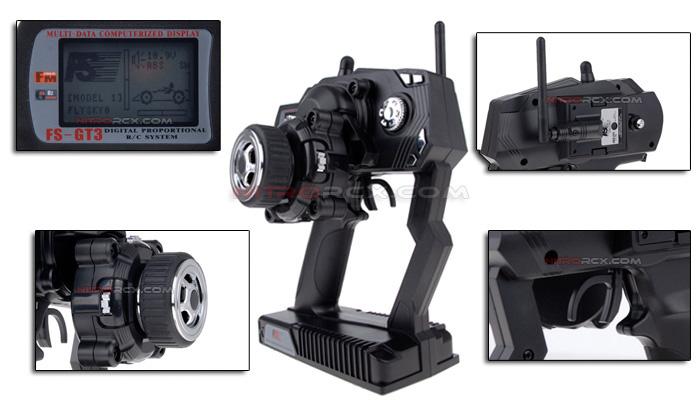 FlySky FS-GT3 2 4G 3CH Gun Transmitter for RC Cars, Trucks