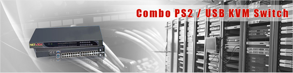 Combo PS2 KVM Switch