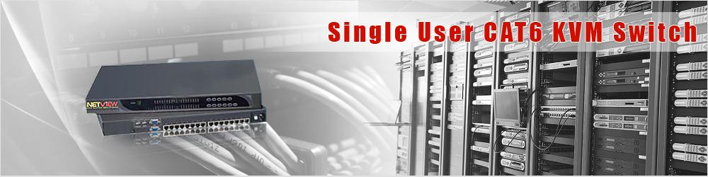 Signle User CAT6 KVM Switch