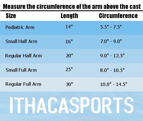 Aquashield Arm Size Chart