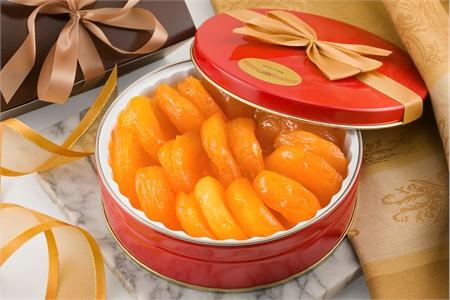 24oz Superior Glazed Apricots Gift Tin