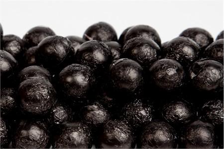 Black Foiled Milk Chocolate Balls (10 Pound Case)