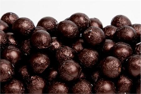 Brown Foiled Milk Chocolate Balls (25 Pound Bag)