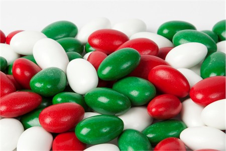 Christmas Jordan Almonds (1 Pound Bag)