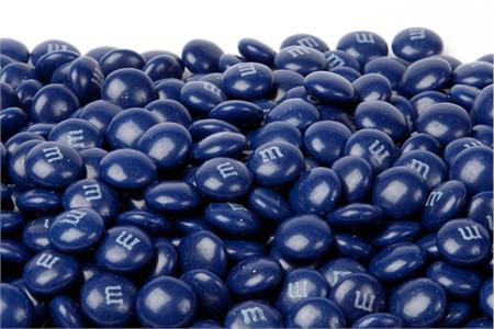 Dark Blue Milk Chocolate M&M's Candy (25 Pound Case)