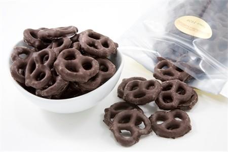 Dark Chocolate Pretzels (3 Pound Bag)