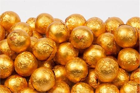 Orange Foiled Milk Chocolate Balls (5 Pound Bag)