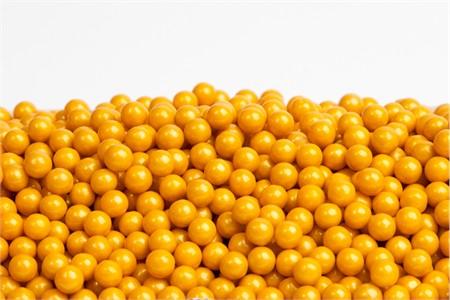 Gold Sugar Candy Beads (1 Pound Bag)