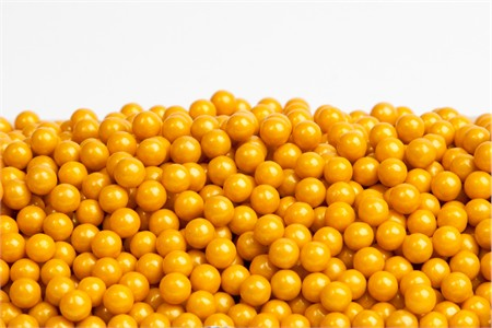 Gold Sugar Candy Beads (25 Pound Case)