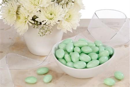 Green Jordan Almonds (25 Pound Case)