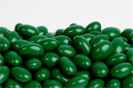 Kelly Green Chocolate Jordan Almonds (1 Pound Bag)