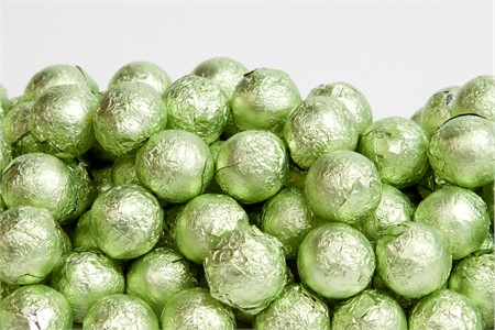 Leaf Green Foiled Milk Chocolate Balls (1 Pound Bag)