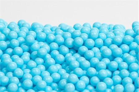 Light Blue Sugar Candy Beads (25 Pound Case)