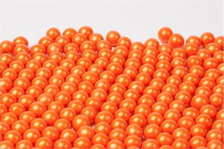 Pearl Orange Sixlets (25 Pound Case)