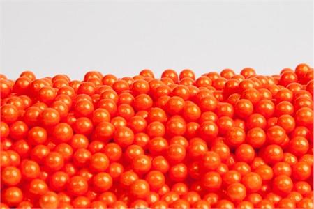 Pearl Orange Sugar Candy Beads (25 Pound Case)