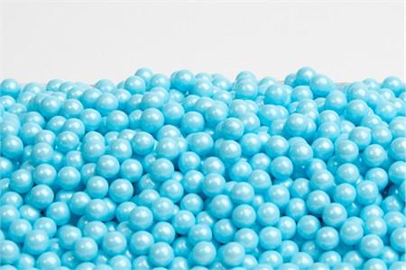 Pearl Powder Blue Sugar Candy Beads (1 Pound Bag)