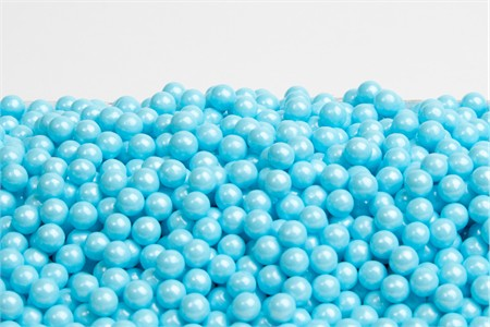 Pearl Powder Blue Sugar Candy Beads (10 Pound Case)