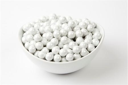 Pearl White Sixlets (25 Pound Case)