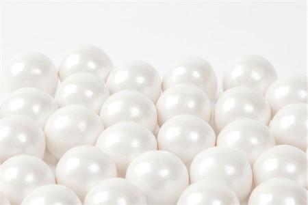 Pearl White Gourmet Gumballs (1 Pound Bag)