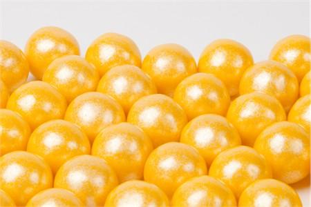 Pearl Yellow Gumballs (4 Pound Bag)