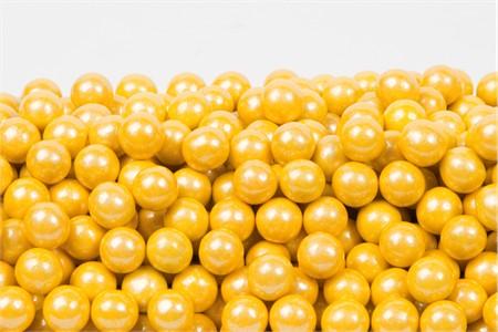 Pearl Yellow Sixlets (1 Pound Bag)