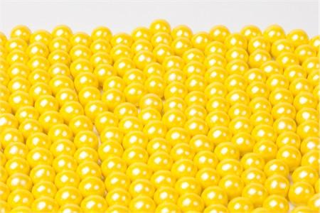 Pearl Yellow Sixlets (25 Pound Case)