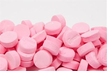 Pink Wintergreen Canada Mints (1 Pound Bag)