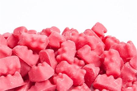Raspberry Dipped Gummy Bears (1 Pound Bag)