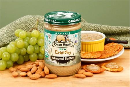 Lightly Toasted Crunchy Organic Almond Butter (1 Pound Jar)