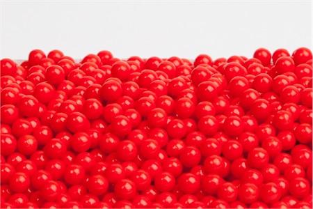 Red Sugar Candy Beads (5 Pound Bag)