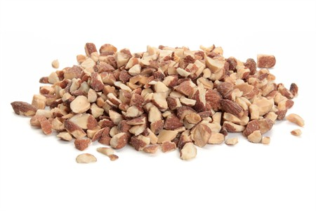 Roasted and Chopped Almonds (25 Pound Case)