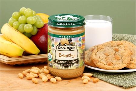Unsalted Crunchy Organic Peanut Butter (1 Pound Jar)
