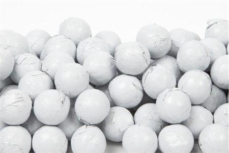 White Foiled Milk Chocolate Balls (10 Pound Case)