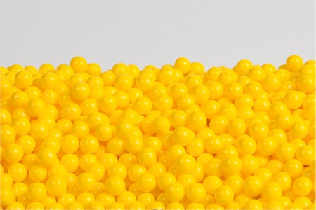 Yellow Sugar Candy Beads (25 Pound Case)