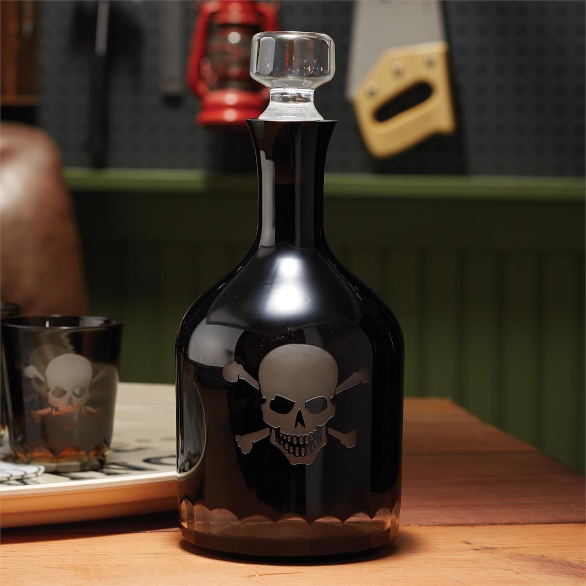Skull & Crossbones Glass Decanter