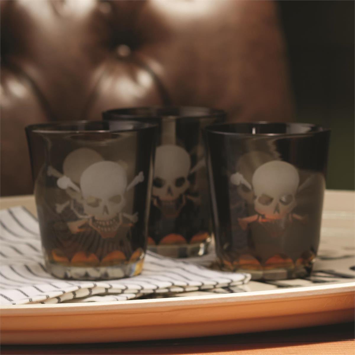 Skull & Crossbones DOF Glasses | Set of 6
