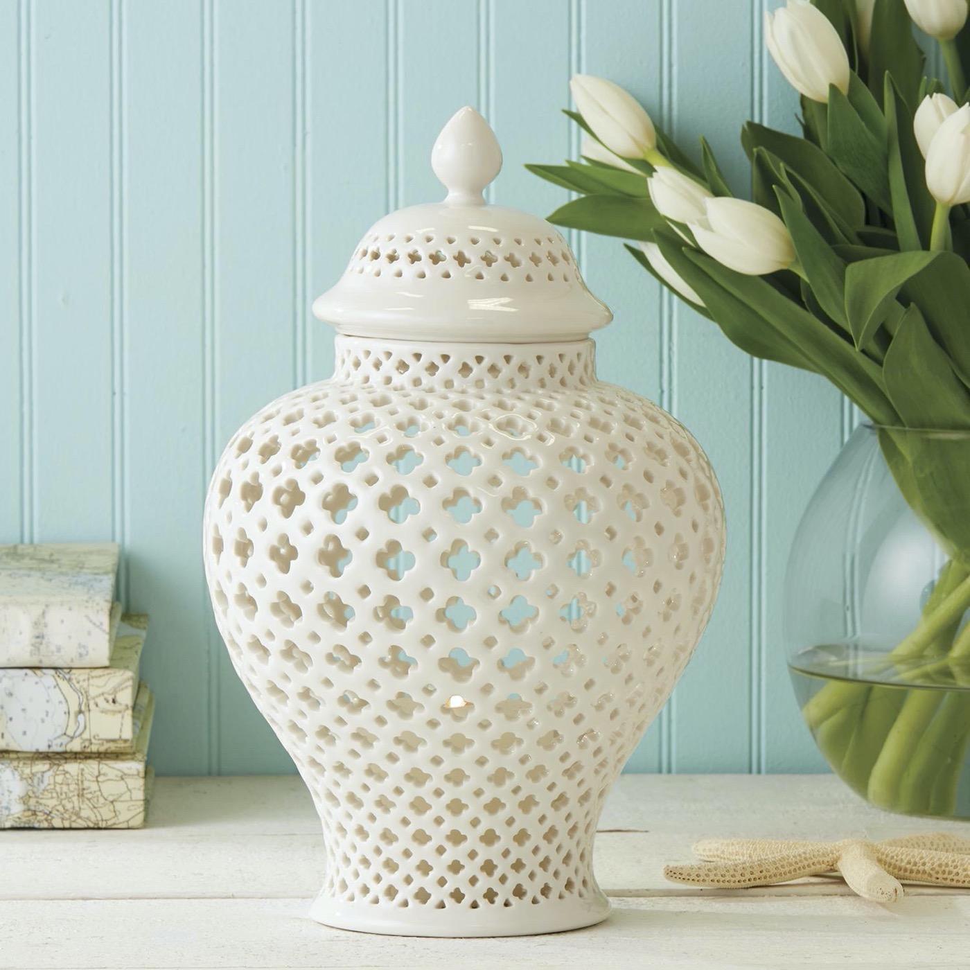 Moroccan Porcelain Jars/Lanterns