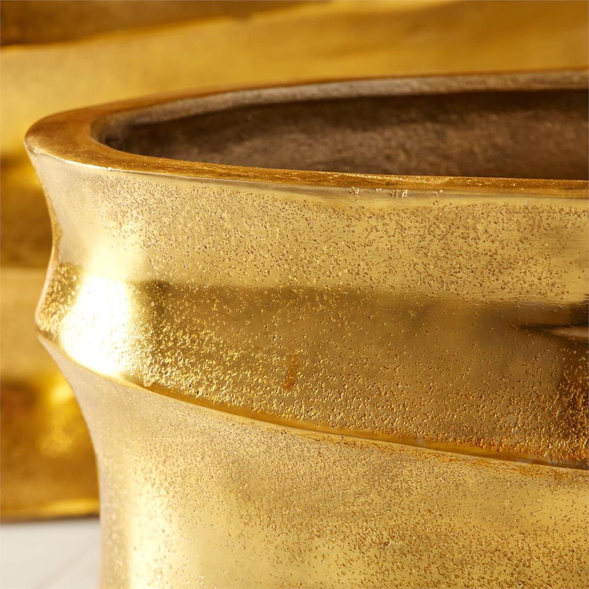 Halcyon Gold Aluminum Vases Set