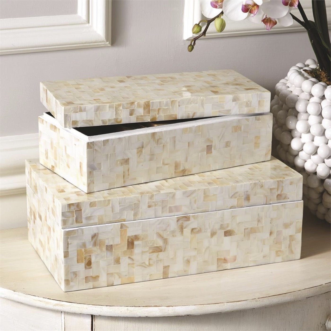 Corbin MOP Boxes Set | Cream