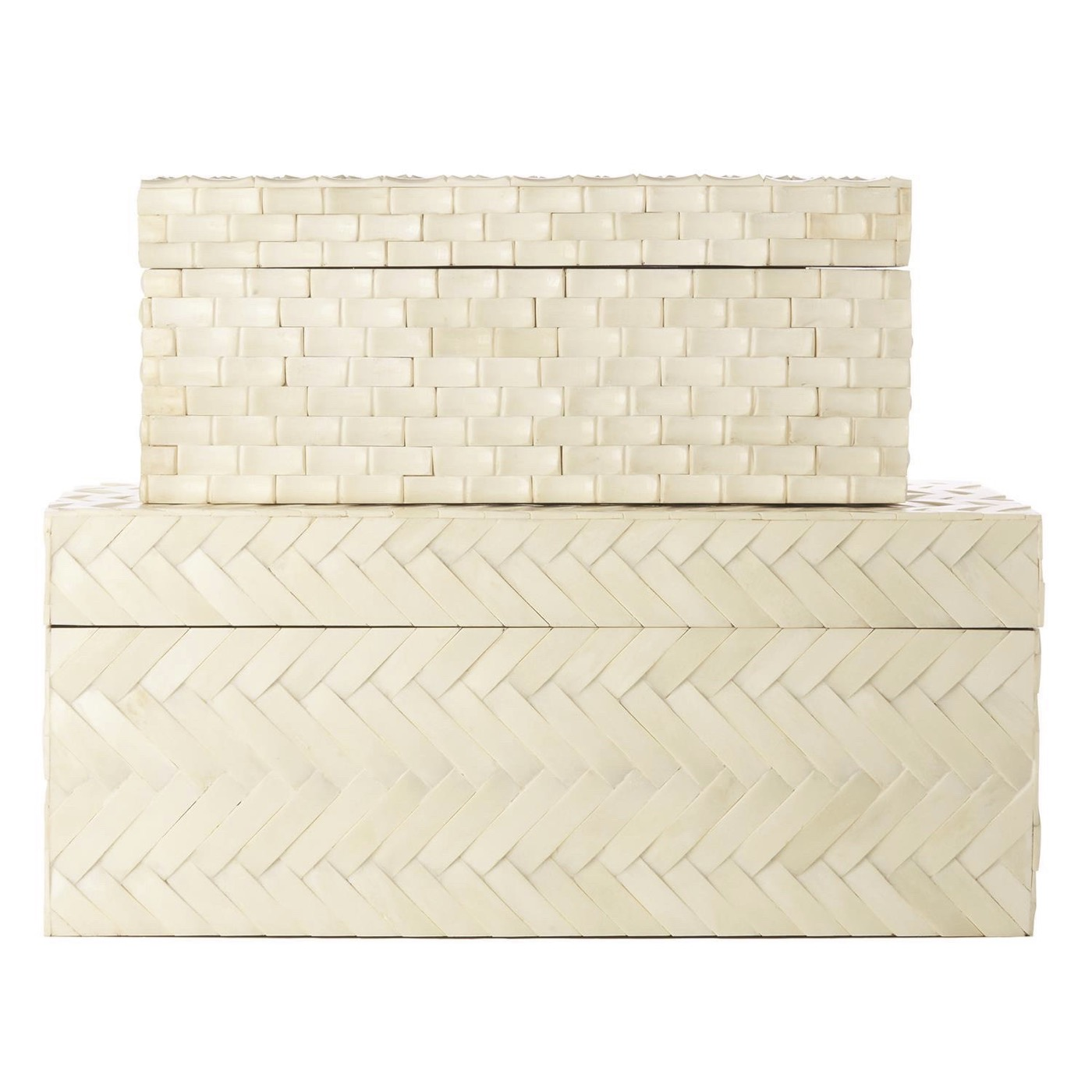 Wynter Woven Bone Boxes Set