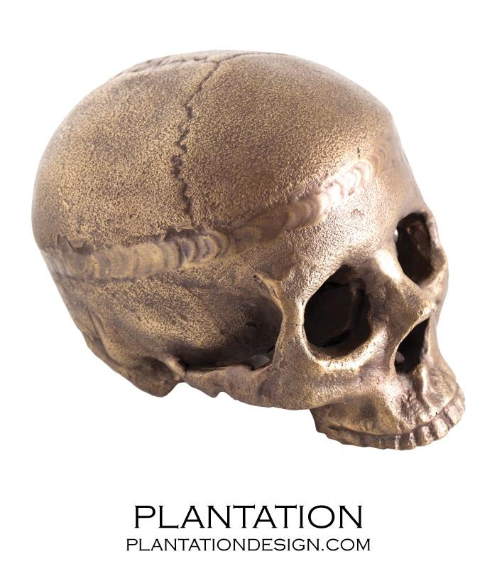 Cranio Metal Skull No. 3 | Aged Brass