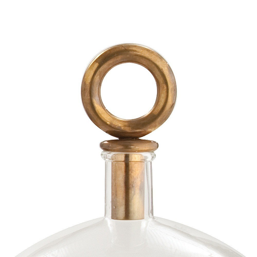 Sawtelle Decanters | Antique Brass