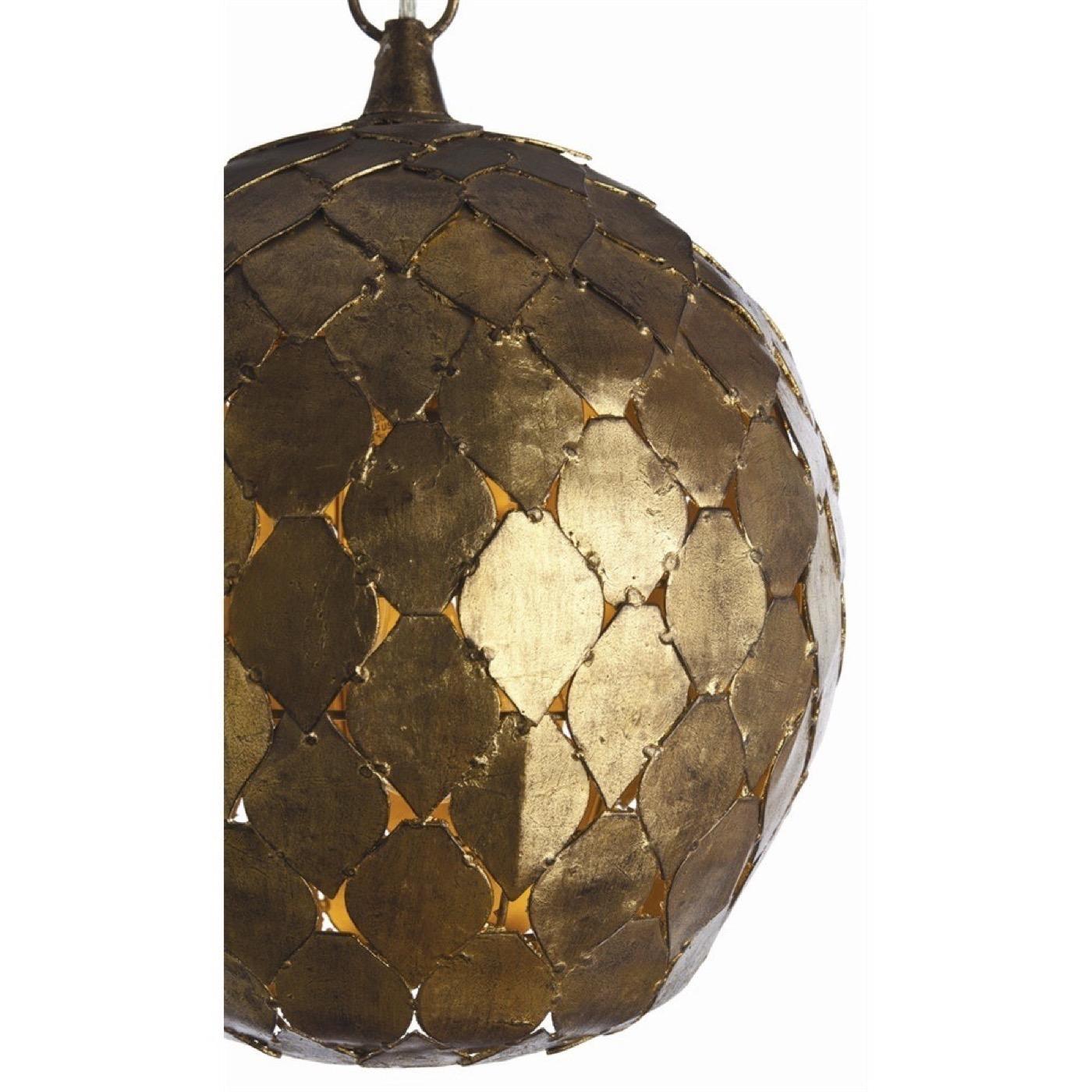 Shai Gold Leaf Pendant