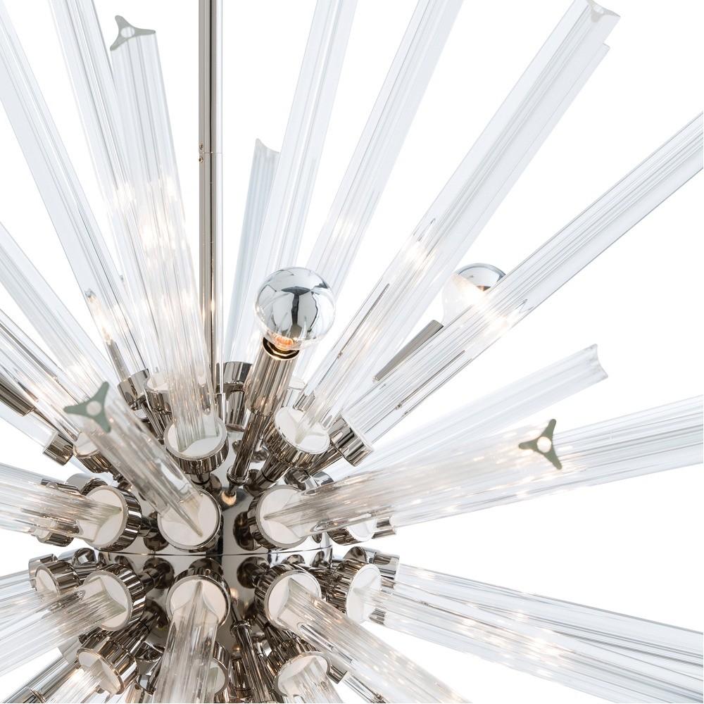 Cosmic Grand Glass Chandelier | Nickel