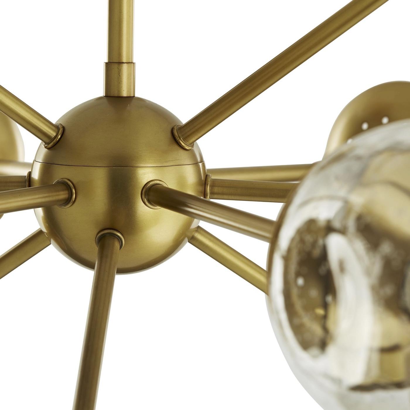 Livingston Antique Brass Chandelier