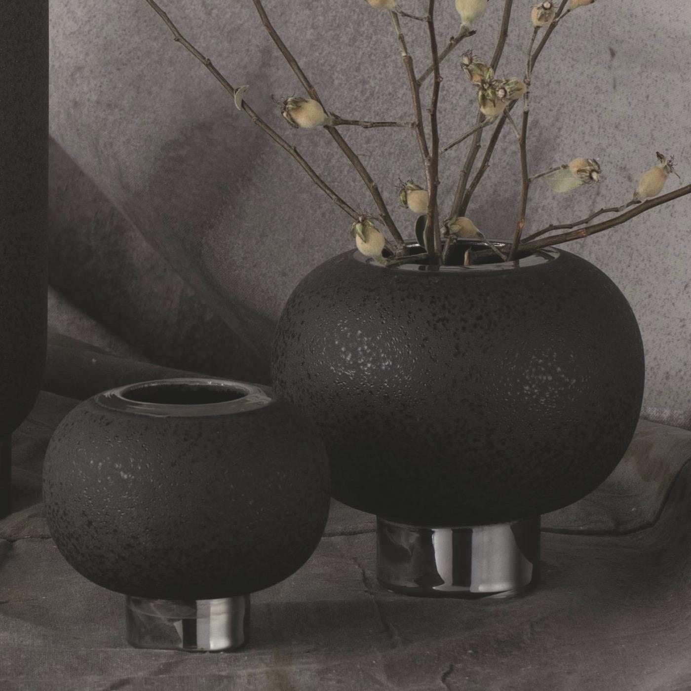 Cinder Sphere Vases | Black
