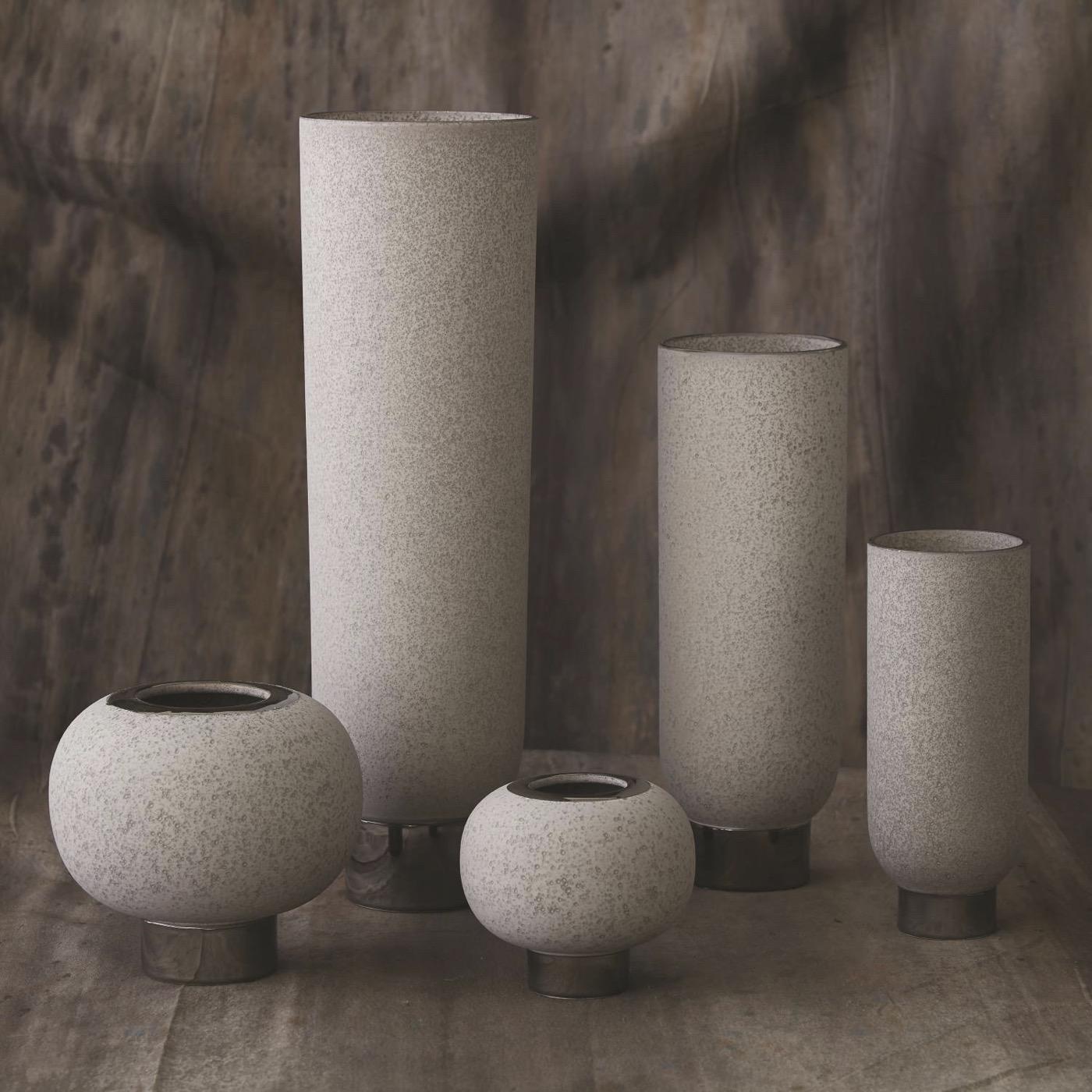 Cinder Ceramic Vases | Grey